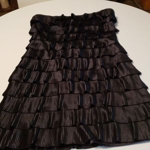 Strapless black flapper dress